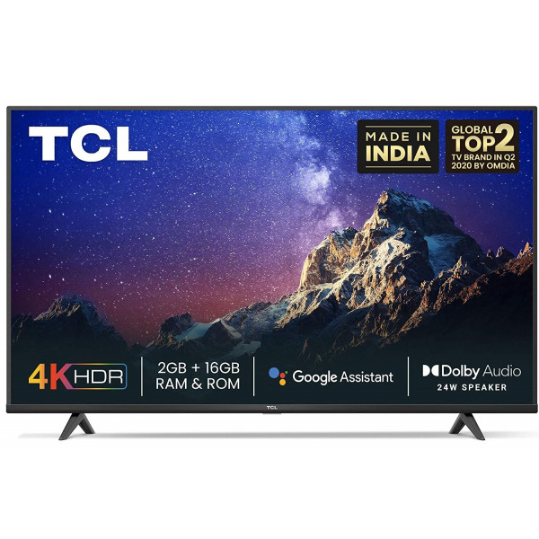 TCL 139 cm (55 inches) 4K Ultra HD Certified Android Smart LED TV 55P615