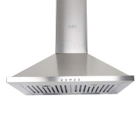 Glen 60 cm 1000 m3/hr Chimney (6075 60cm, 2 Baffle Filters, Stainless Steel)
