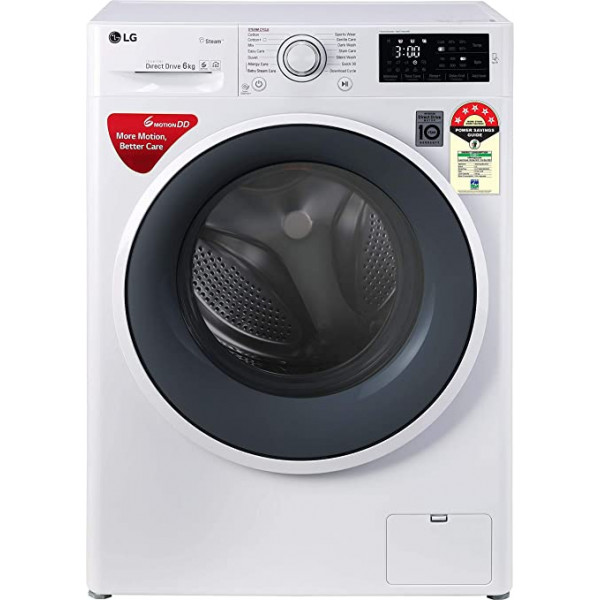 LG 8 kg 5 Star Inverter Fully automatic front load Washing machine - FHT1208ZNL