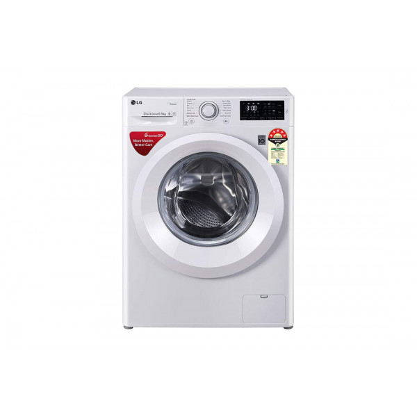 LG 6.5 Kg  Inverter Fully-Automatic Front Loading Washing Machine (FHT1065HNL White, 6 Motion Direct Drive & Steam