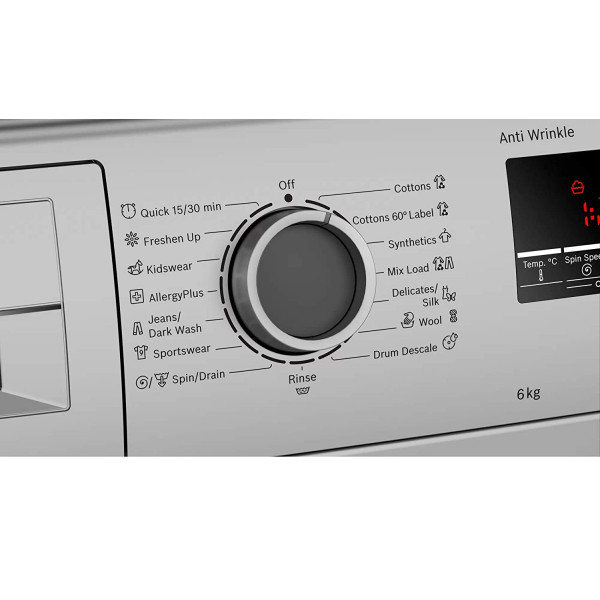 Bosch WLJ2026SIN 6.0 Kg Front Load Fully Automatic Washing Machine (Silver)