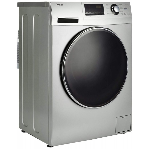 Haier 7 kg Fully-Automatic Front Loading Washing Machine (HW70-B12636GNZP, Titanium Grey)