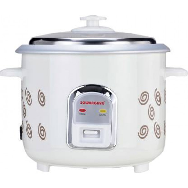 Sowbaghya Annam Plus Electric Rice Cooker  (1.8 L, White)