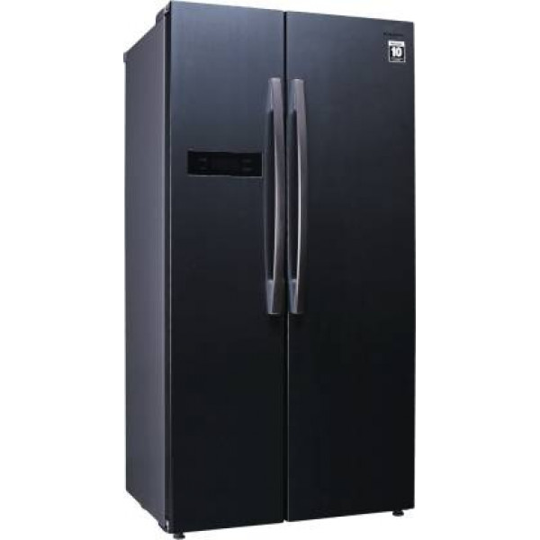 Panasonic 584 L Frost Free Side by Side  Refrigerator  (Dark Grey Steel, NR-BS60MHX1)