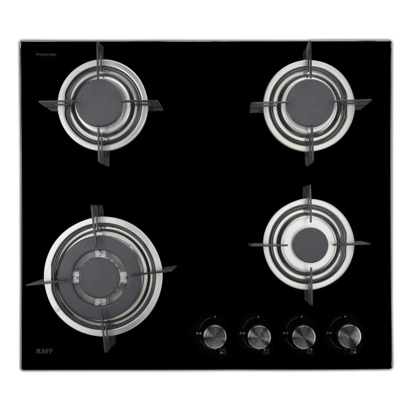 Kaff 4 Burner Glass Hob (Black, NE 4B 60 GF)