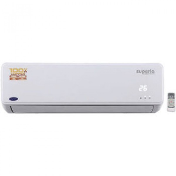 Carrier SUPERIA PRO CYCLOJET 1.5 Ton 3 Star BEE Rating 2018 Split AC – White(Copper Condenser)