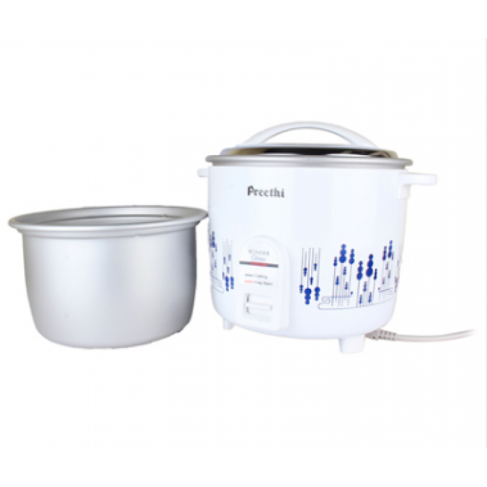 Buy Preethi Wonder Rangoli Rc 320 A18 Electric Rice Cooker 1 8 L White Online At Low Prices In India Amazon In