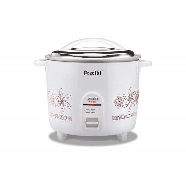 Preethi RC-321 2.2-Litre Double Pan Rice Cooker (White)