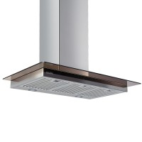 GLEN 6062 SS 60 1000M3 BF-LTW Wall Mounted Chimney  (Steel 1000 CMH)