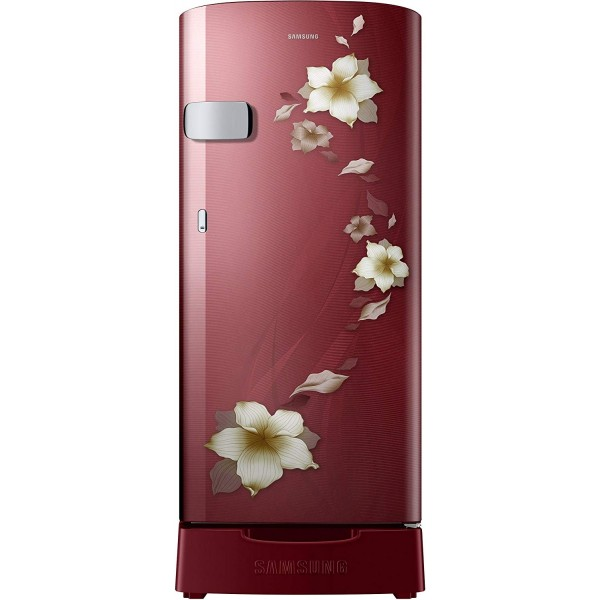 Samsung 192 L 2 Star Direct Cool Single Door Refrigerator(RR19N1Z22R2/HL, RR19N2Z22R2/NL, Star Flower Red, Base Stand with Drawer)
