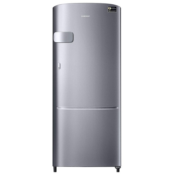 Samsung 192 L 3 Star Direct Cool Single Door Refrigerator(RR20N1Y2ZS8/HL, Elegant Inox, Base Stand with Drawer, Inverter Compressor)