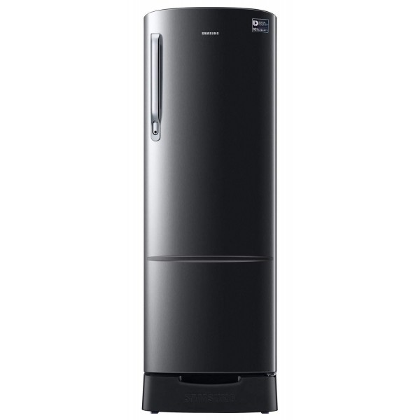 Samsung 255 L 3 Star Direct Cool Single Door Refrigerator(RR26N373ZBS/HL, Black Inox, Inverter Compressor)