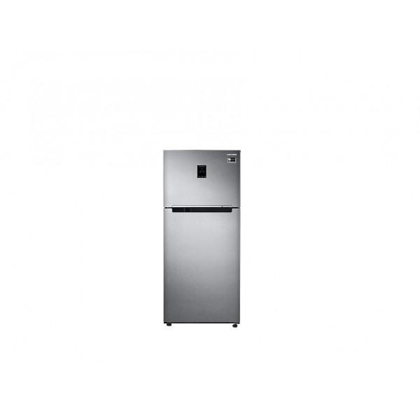 Samsung 415 L Frost Free Double Door Top Mount 4 Star Convertible Refrigerator  (Real Stainless Look, RT42M553ESL-TL)