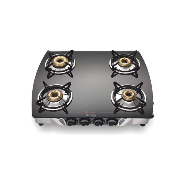 Preethi Blu Flame Jumbo Glass Top 4-Burner Gas Stove