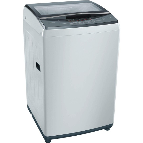 Bosch 7kg Fully Automatic Top Loading Washing Machine (WOE704Y0IN, Grey)