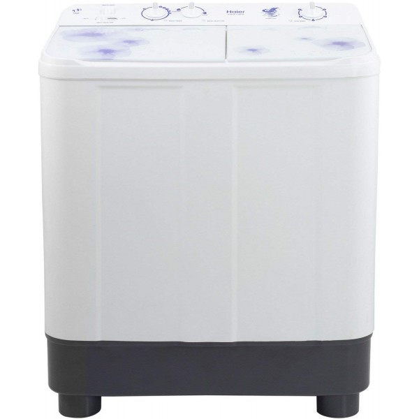 Haier 7.6 kg Semi-Automatic Top Loading Washing Machine (HTW76-1159, White)