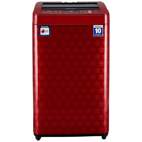 Panasonic 6.5 kg Fully-Automatic Top Loading Washing Machine (NA-F65H6FRB, Red)