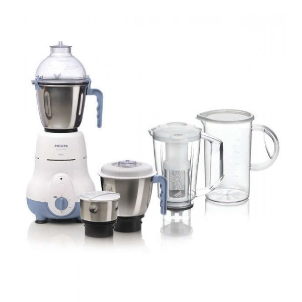 Philips HL1643/06 600 W Juicer Mixer Grinder  (Blue, 4 Jars)