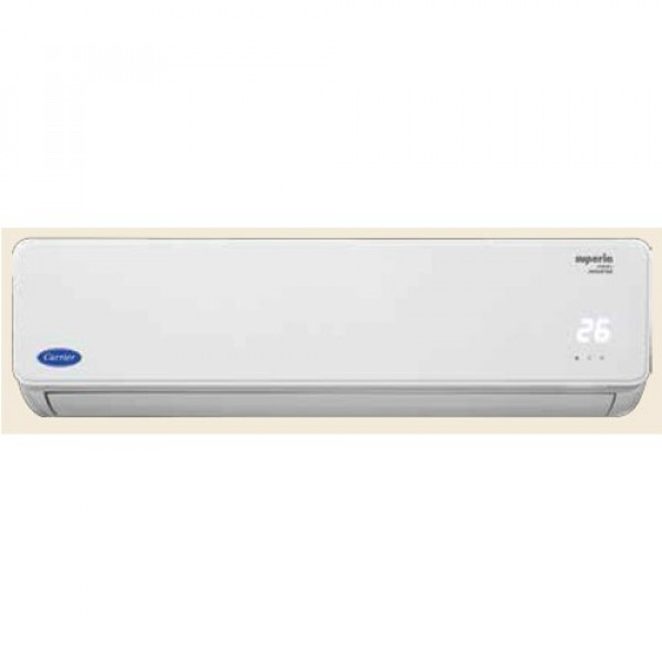 Carrier 1.5 Ton Inverter 5 Star  (2019 Range) Superia Neo Plus CAI18SU5R39F0 Split AC (White)