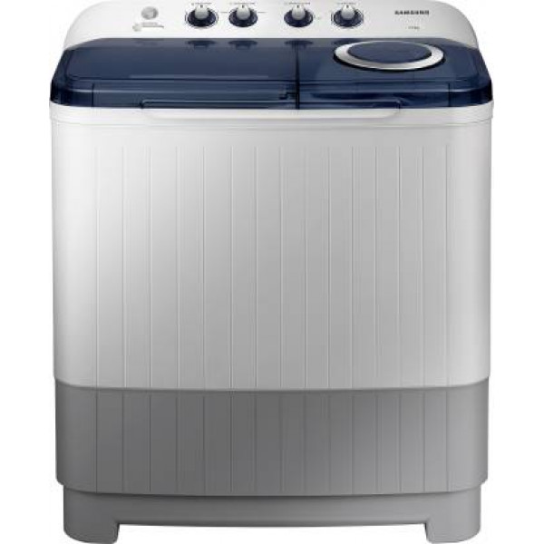 Samsung 7.2 kg Semi Automatic Top Load Washing Machine White, Blue, Grey  (WT72M3200HB/TL)