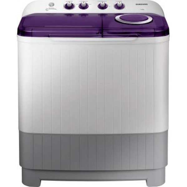 Samsung 7.2 kg Semi Automatic Top Load Washing Machine with In-built Heater Purple, White, Grey  (WT72M3200HL/TL)