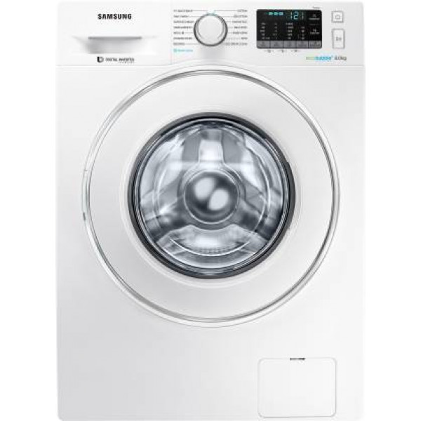 Samsung 8 kg Fully Automatic Front Load Washing Machine with In-built Heater White  (WW80J54E0IW/TL)
